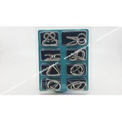 Puzzle Metalic B - Set 8 Jocuri de Logica