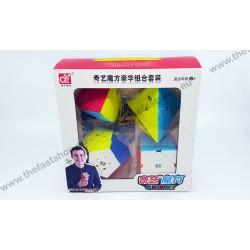 Pachet Cadou QiYi -MFG 2x2 + 3x3 + 4x4 + 5x5 - Cuburi Rubik