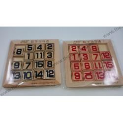 Puzzle din Lemn - 15 Numere