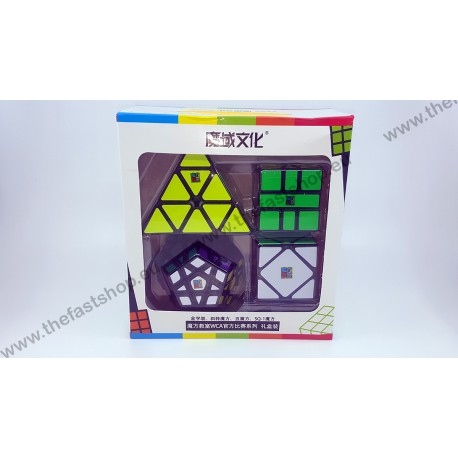 Pachet Cadou MoYu MoFangJiaoShi Megaminx+ Pyraminx+ Skewb+ Square-1 - Cuburi Rubik