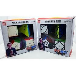 Pachet Cadou QiYi -Pyraminx + Megaminx + Skewb + Ivy Skewb - Cuburi Rubik
