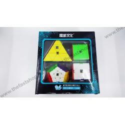 Pachet Cadou MoYu MoFangJiaoShi Meilong Megaminx+ Pyraminx+ Skewb+ Square-1 - Cuburi Rubik
