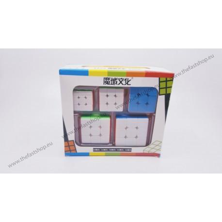 Pachet Cadou MoYu MoFangJiaoShi Mini - Cuburi Rubik